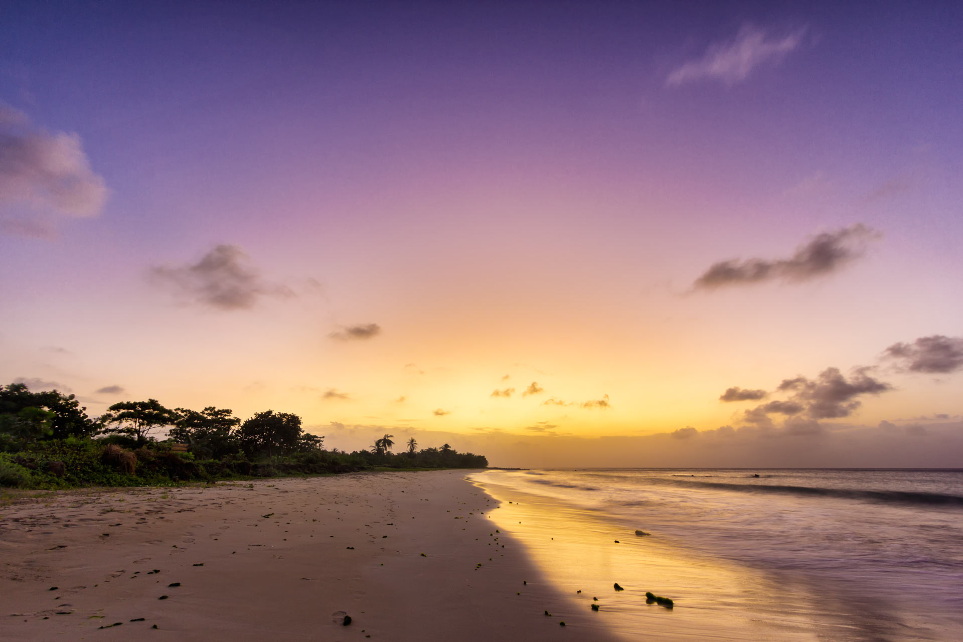 Purple sky on Big Corn Island, an island 70 kilometres east of Nicaragua's Caribbean coast.