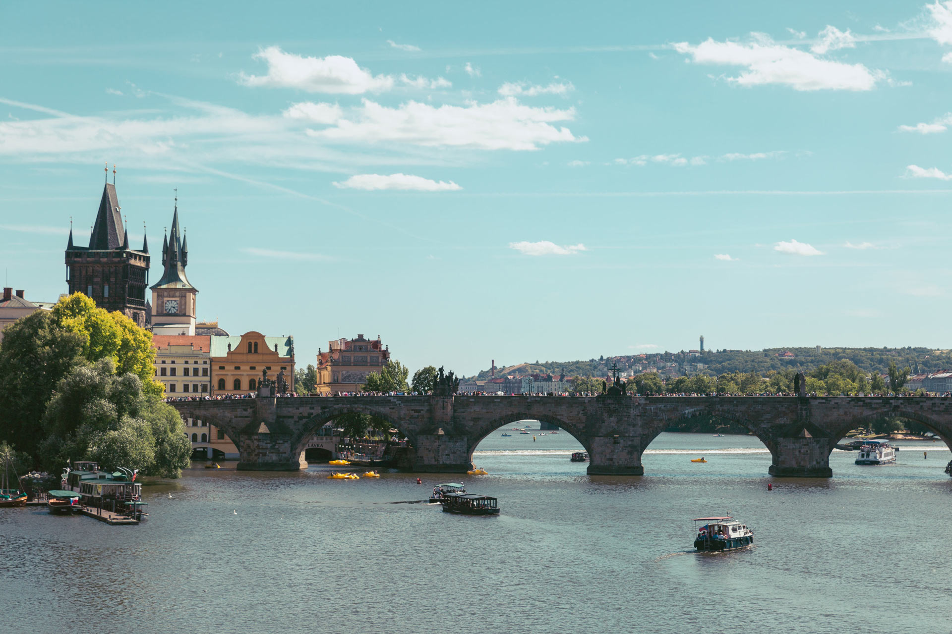 The beautiful Charles Bridge from afar.