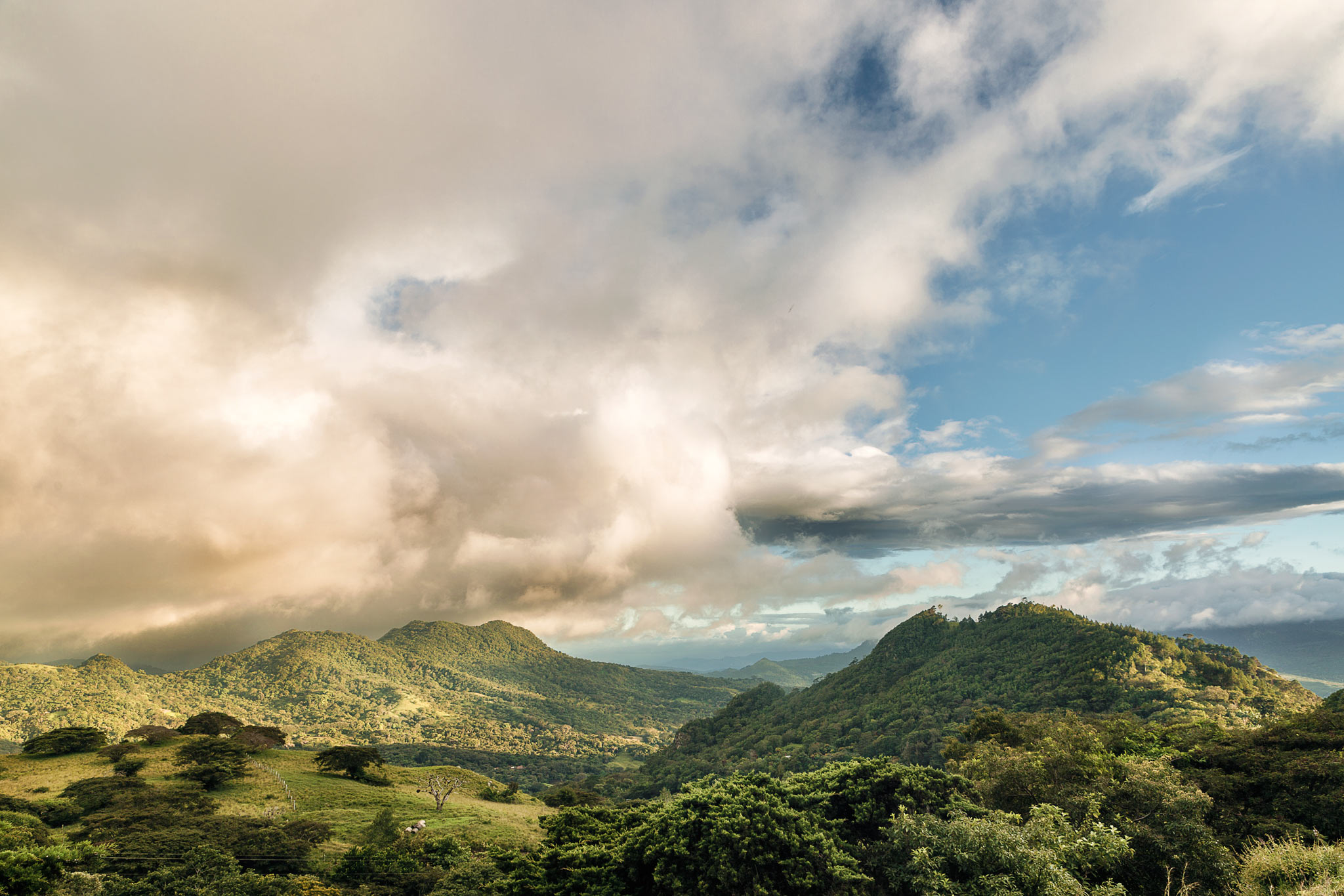 The rolling hills of Matagalpa. While taking this picture, a guy on a motorcycle rolled up to us and started asking questions about my camera. All was good until we realized he carried a gun. I'm sure he meant nothing by it and he wasn't directly threatening, but we took no chances and fled the scene fast!