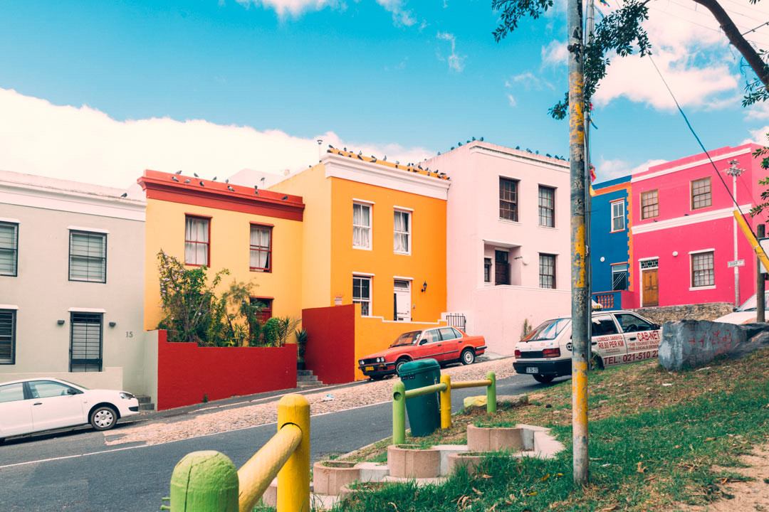 Colorful houses in Bo Kaap.