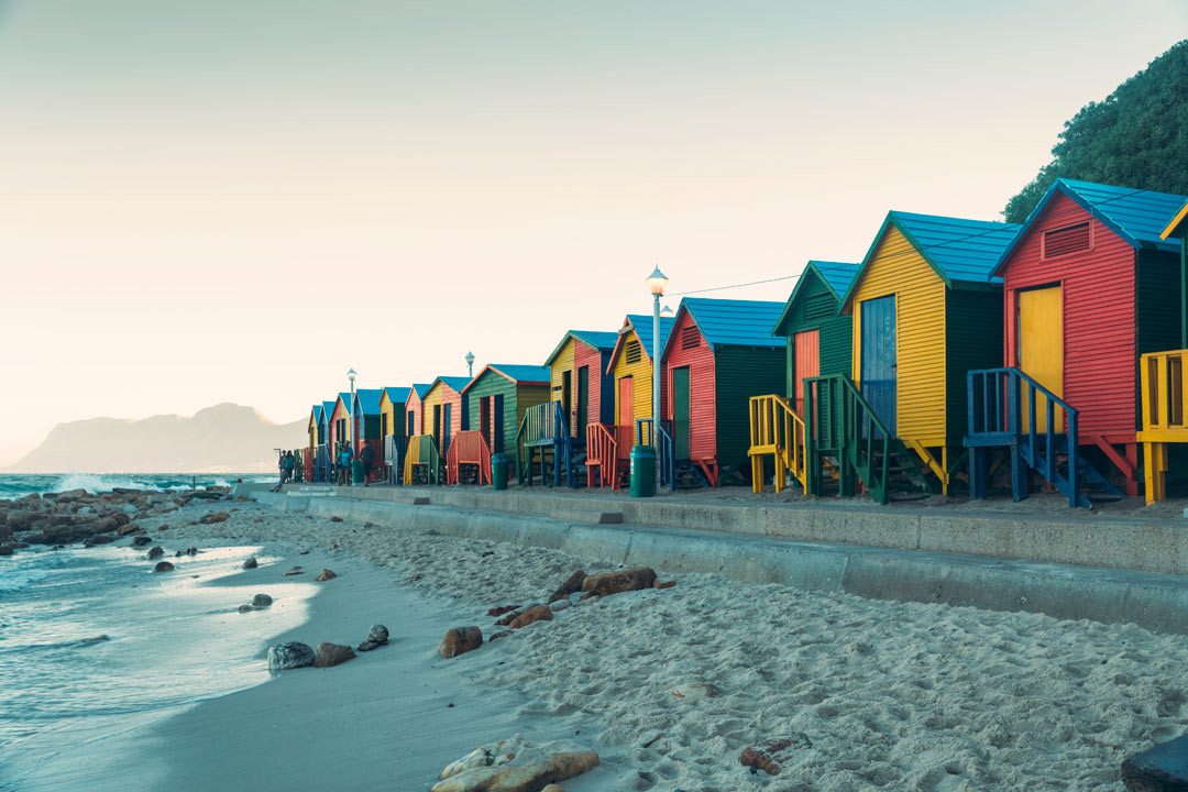 Colorful beach houses.