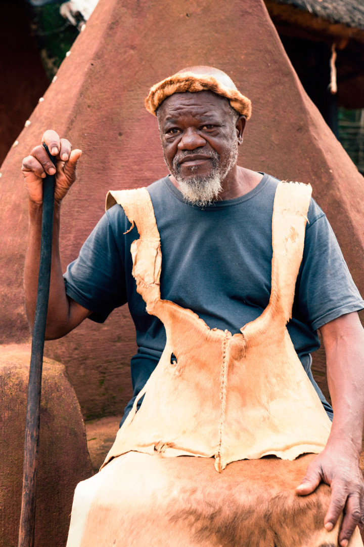 A real African tribal chief. He had three wives.