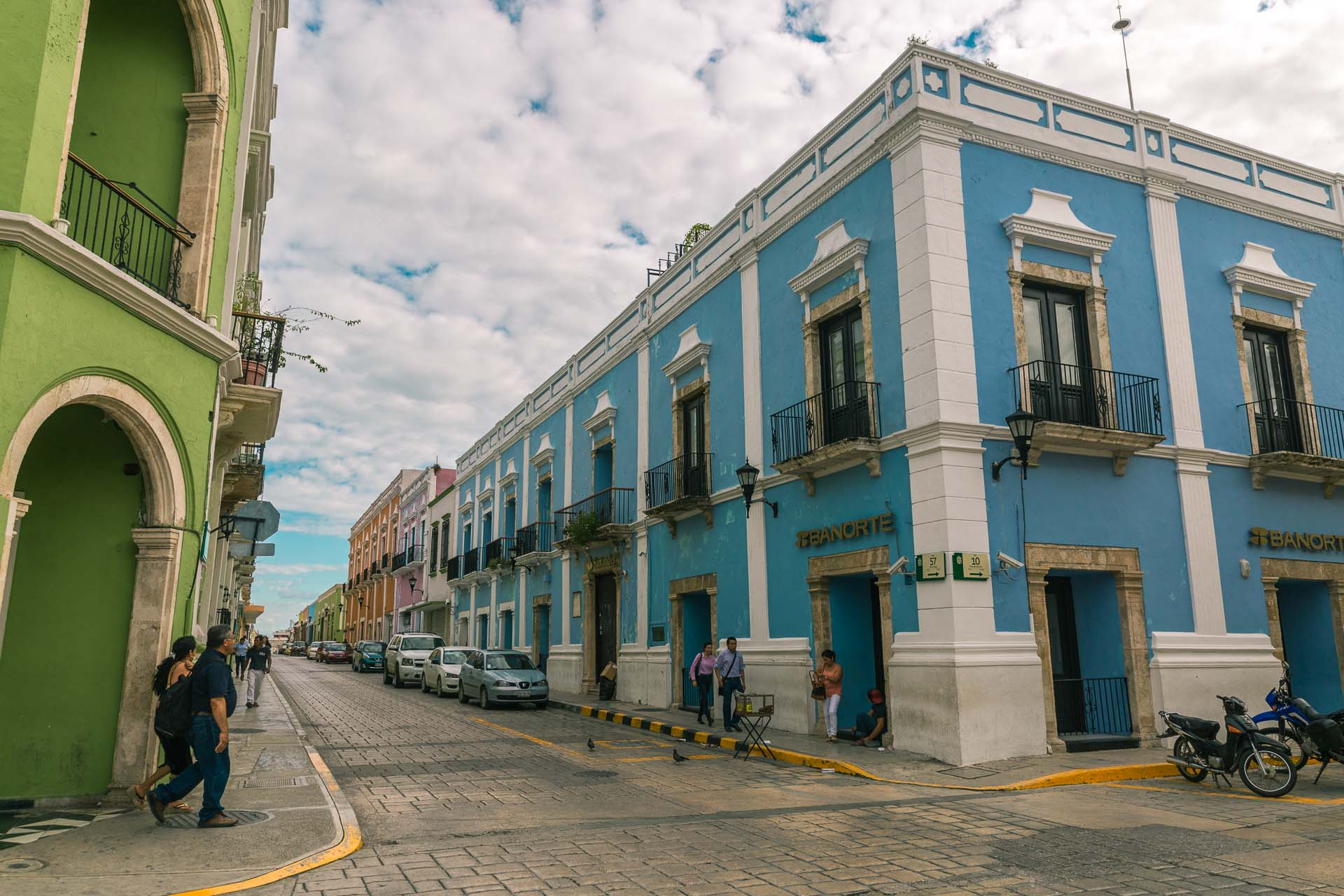 The city is filled with colonial architecture.