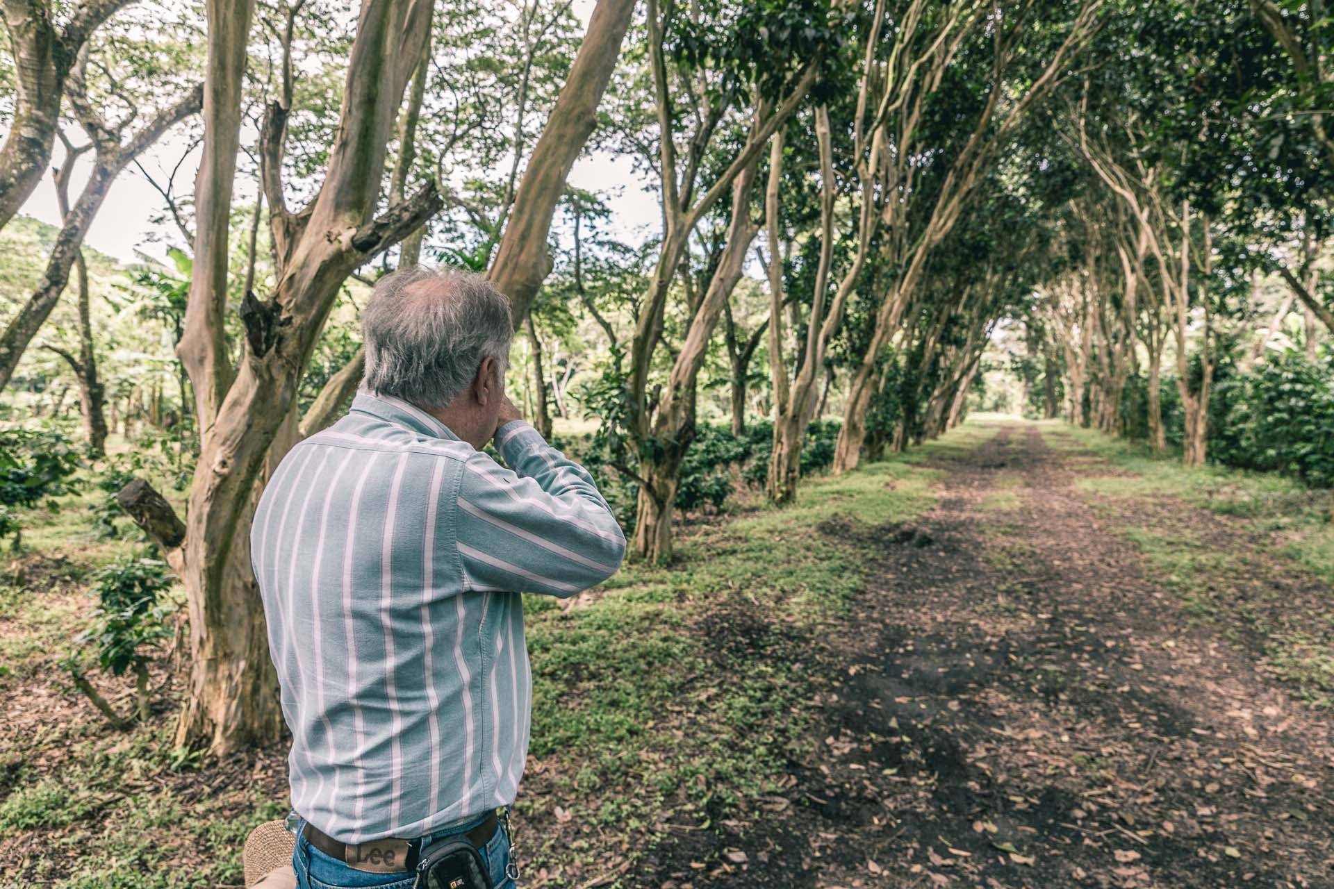 After Atitlan we visited the coffee farm San Jose La Laguna Estate. Here the owner, Roberto, looks down memory lane.
