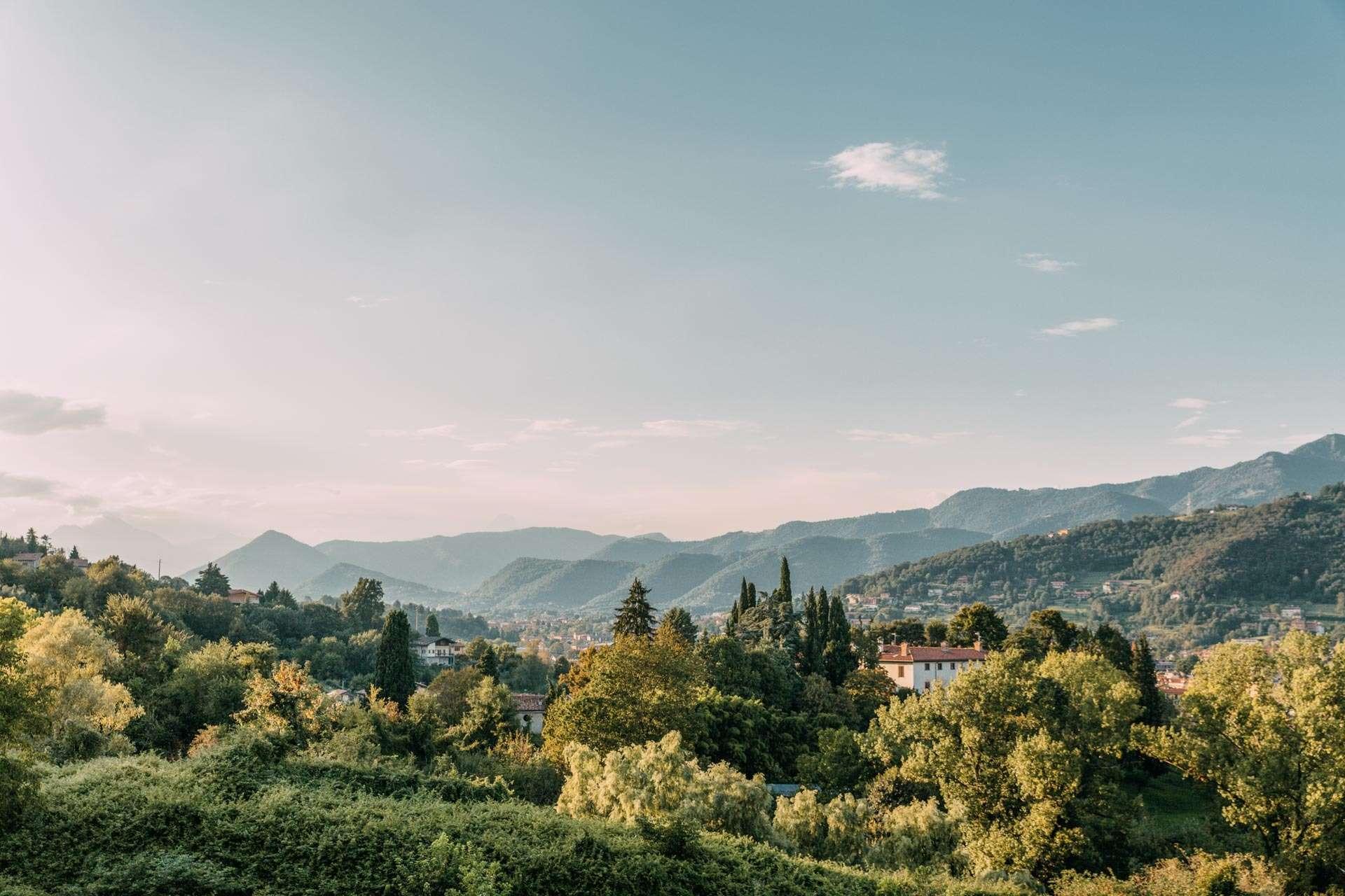 Solnedgangsvandring i Bergamo.
