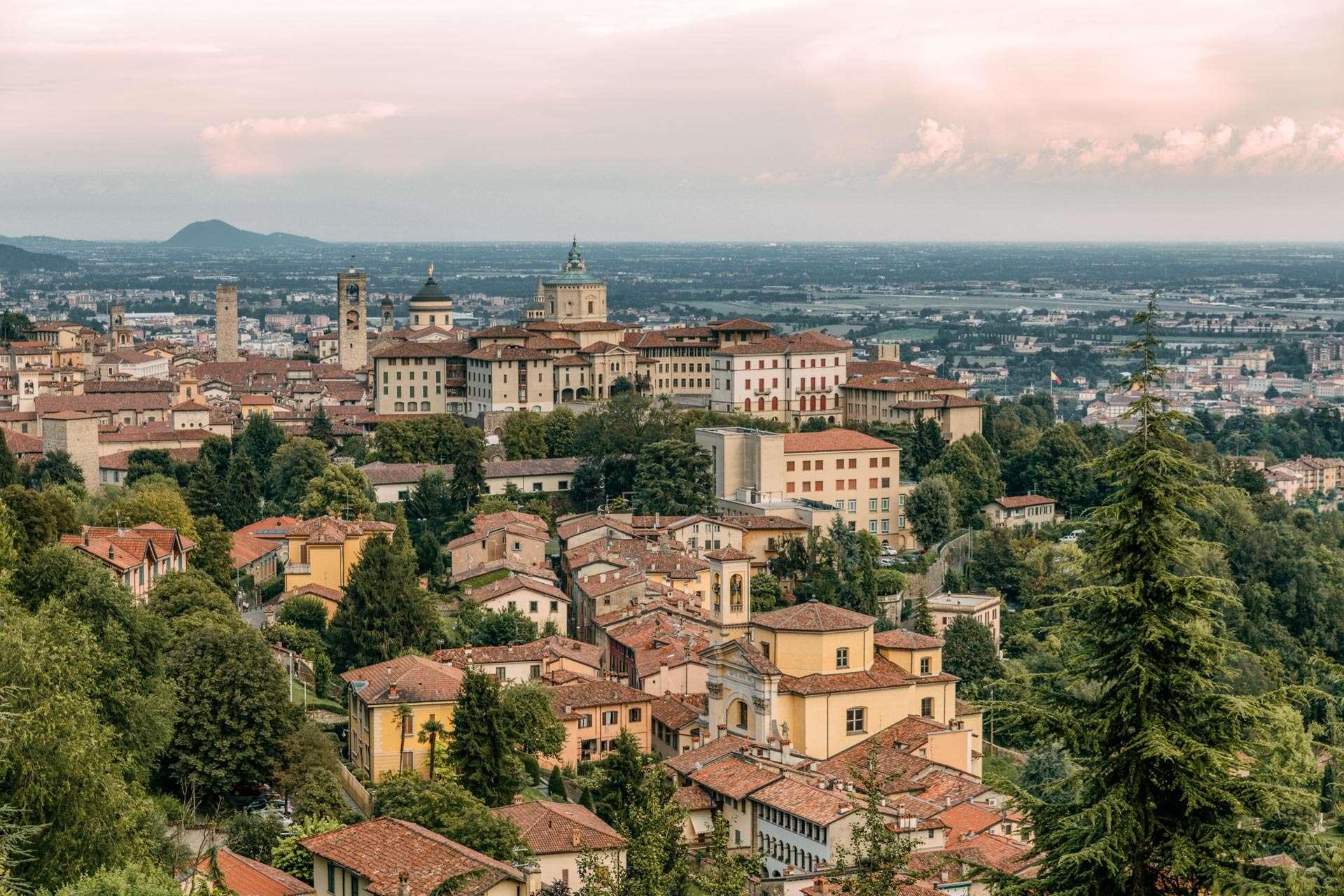 Den gamle by i Bergamo, bygget i det 16. århundrede.