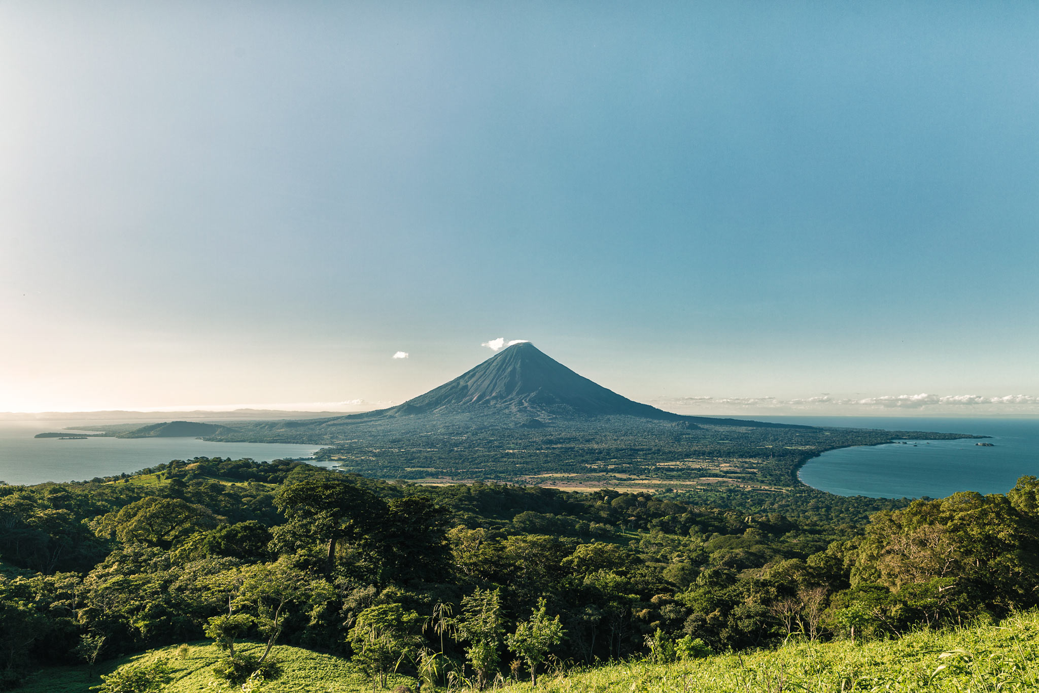 Finally a clear view of Volcán Concepción on Ometepe.