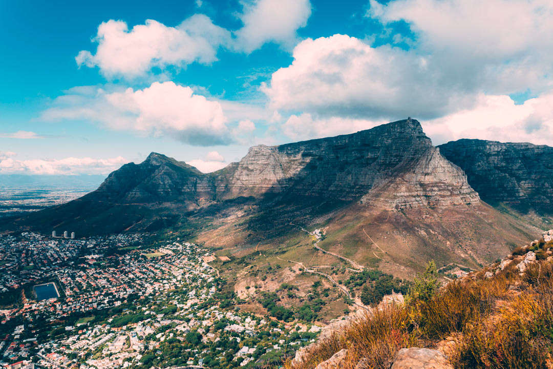 The majestic Table Mountain from Lion's Head.
