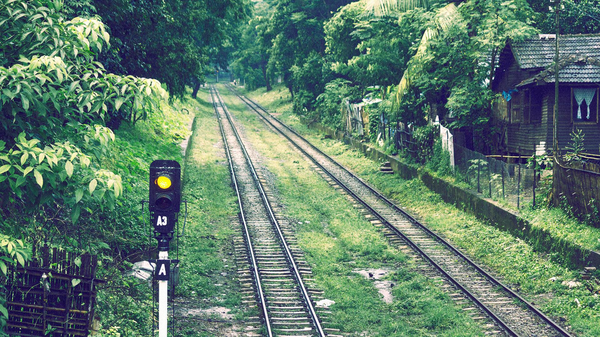 Train tracks in Myanmar