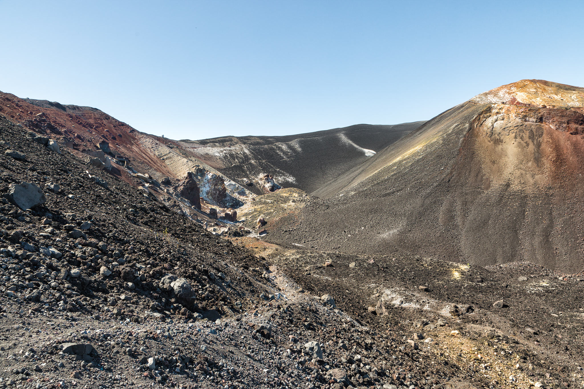 The road to the top of Cerro Negro, one of Nicaragua's many active volcanoes.