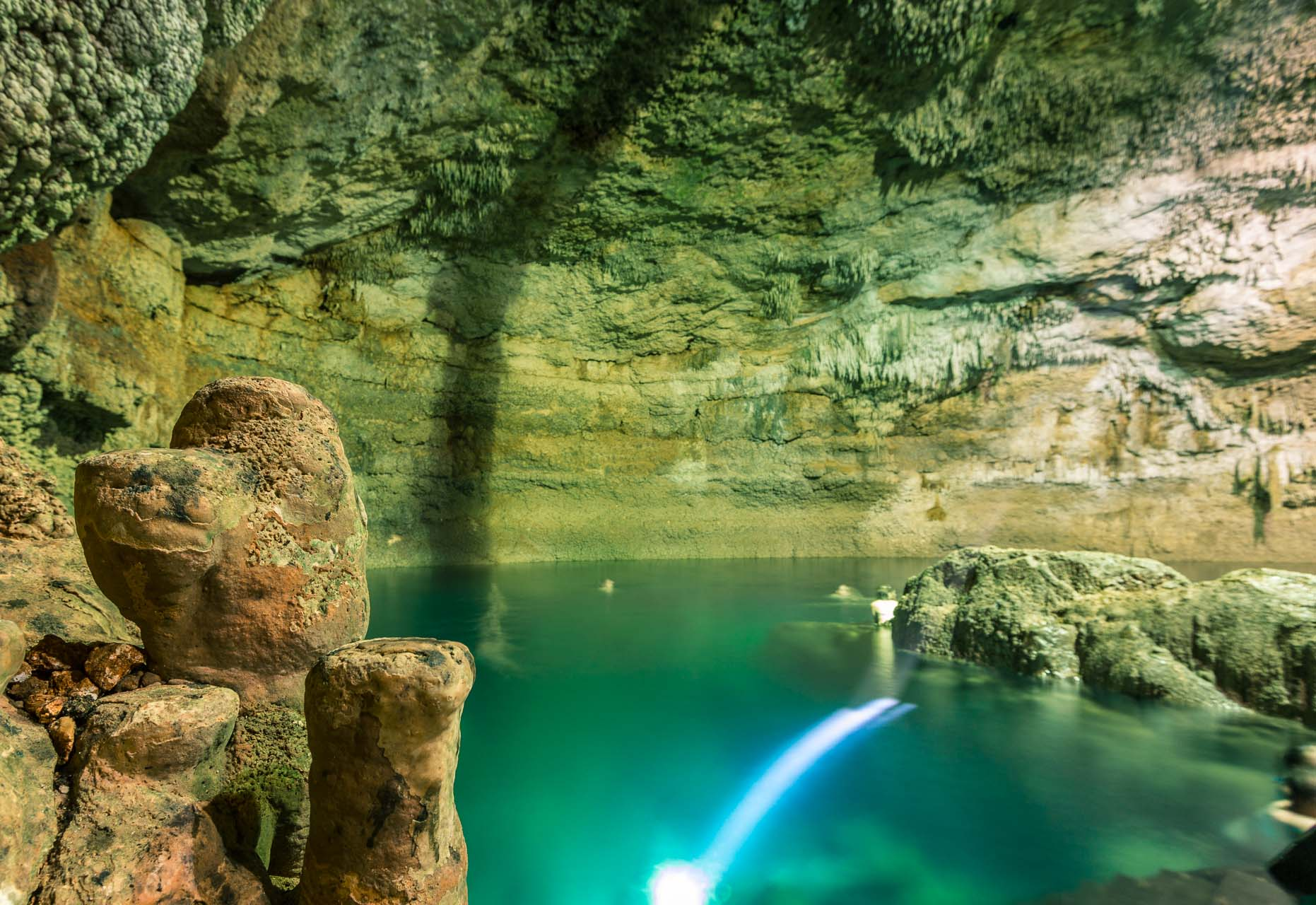 "The cenotes on the peninsula are spectacular. This is Tankach Ha - ""ha"" meaning water in Mayan."