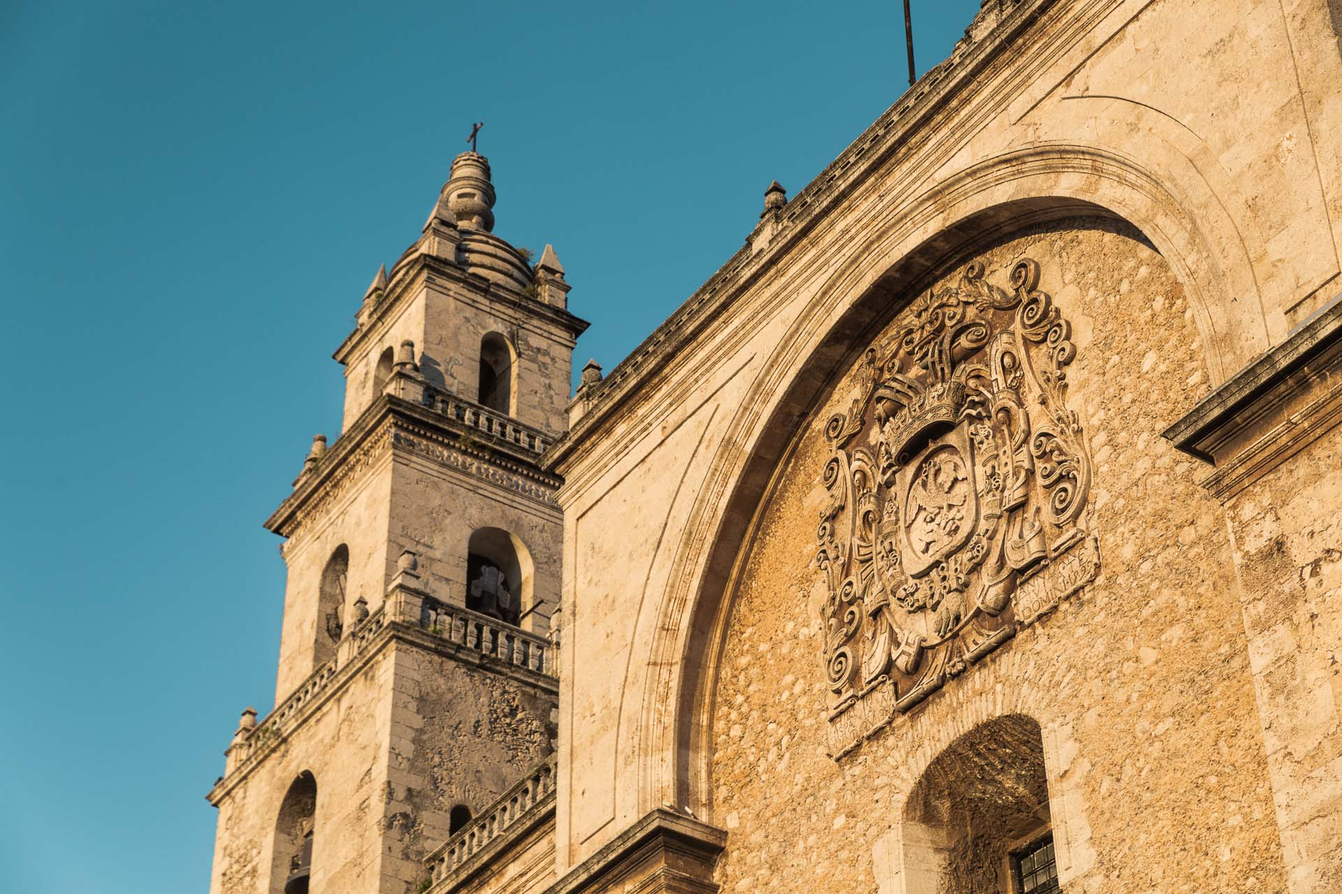 The Mérida Cathedral, one of the oldest cathedrals in all of the Americas. Stunning with the afternoon sun on it.