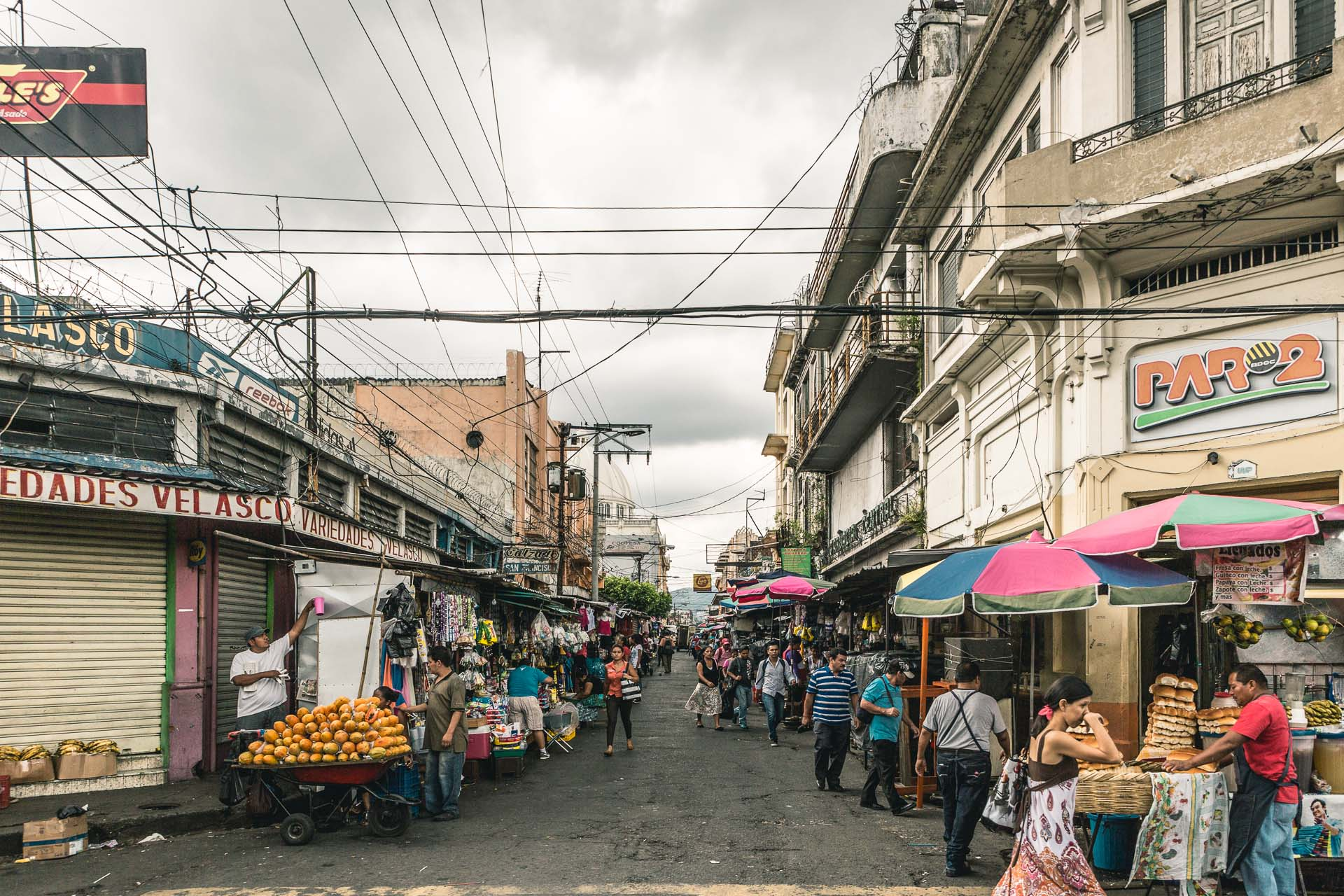 Street after street filled with markets.