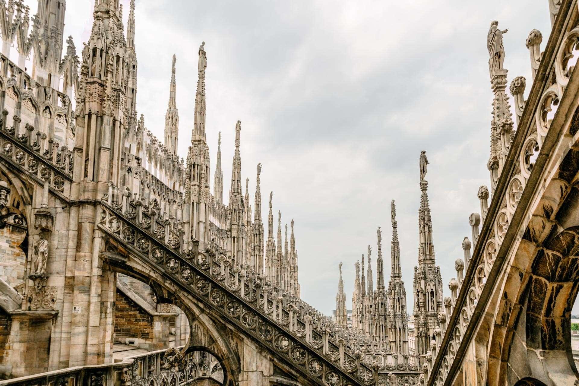 På toppen af domkirken aka Il Duomo.
