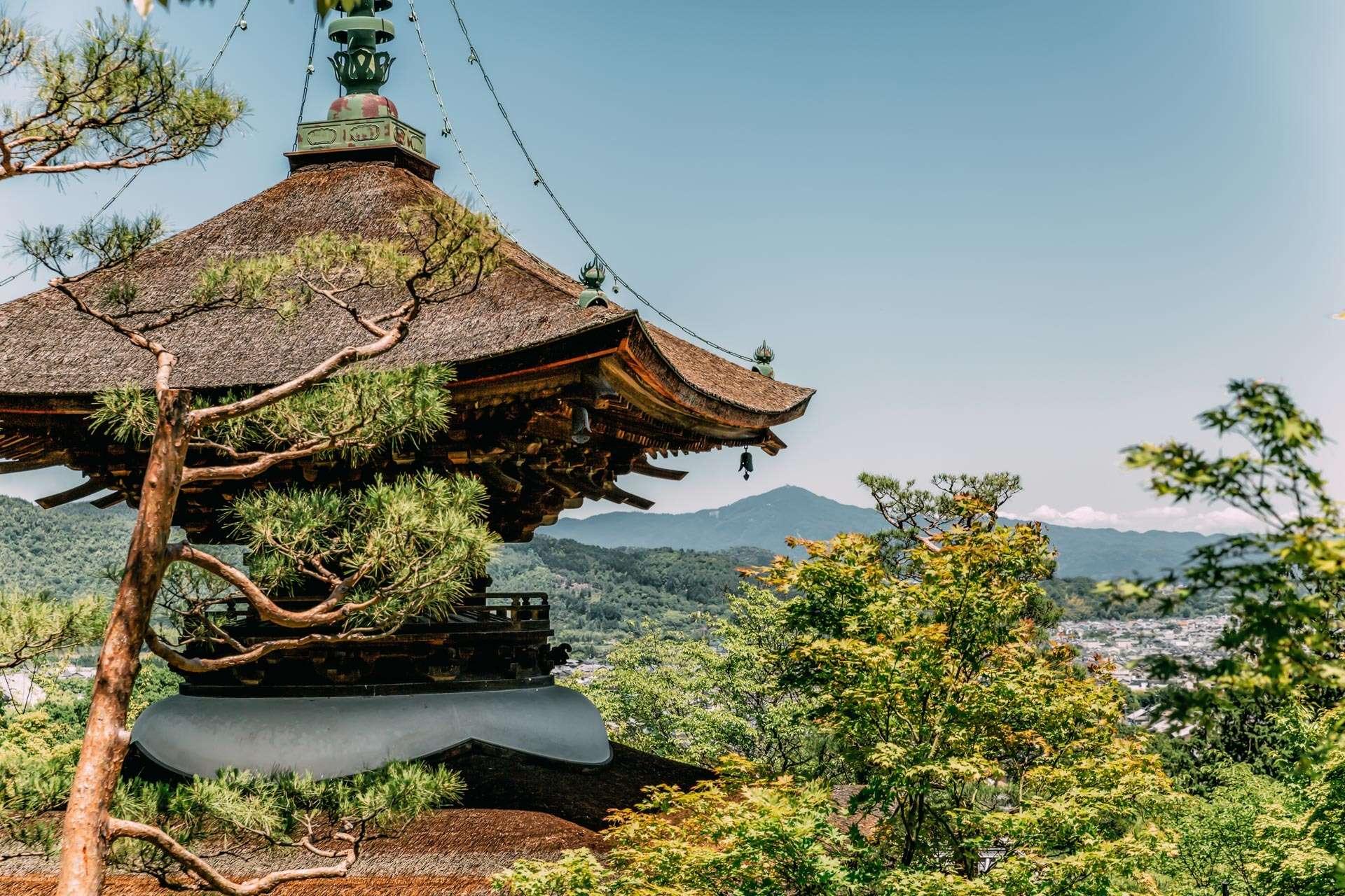 Her er ét af mere end 1000 templer i Kyoto.