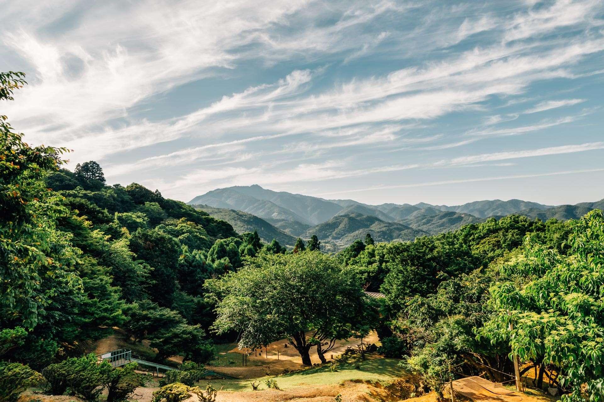 Landskab i Kyoto.